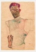 Egon Schiele, Selbstbildnis mit Gilet, 1910