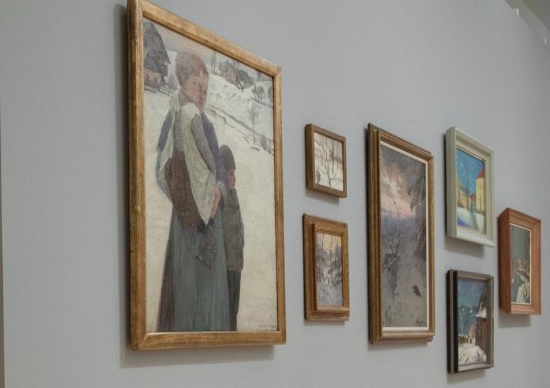 Gustav Jahn, Winter am Land (c) Landessammlungen NÖ