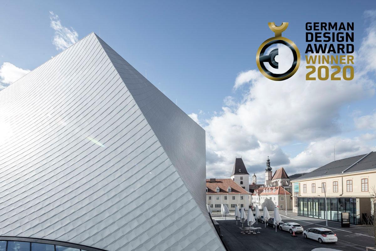 """Die Architektur der Landesgalerie Niederösterreich wurde in der neu ausgelobten Kategorie """"Excellent Architecture"""" mit dem German Design Award ausgezeichnet. Die Preisverleihung folgt Anfang 2020."""