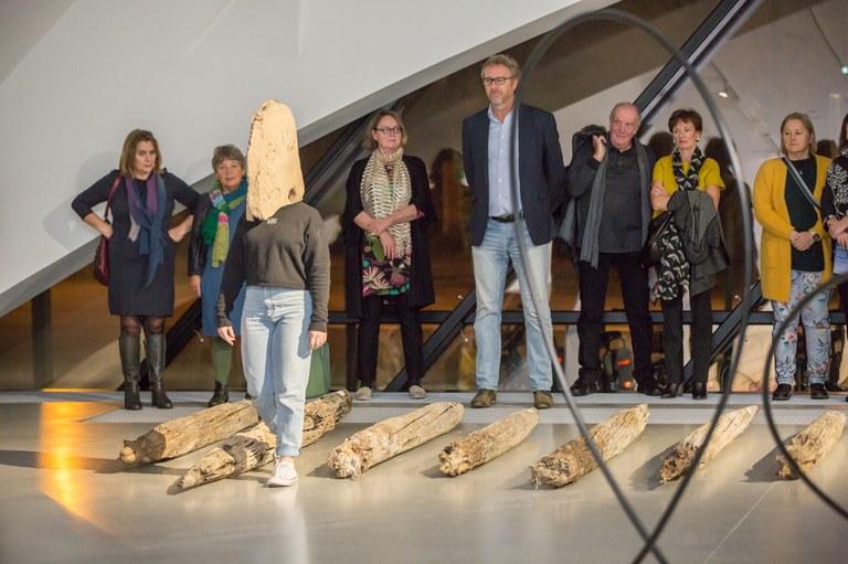 Die Eröffnung der Personalen von Carola Dertnig und Michael Höpfner in Bildern.