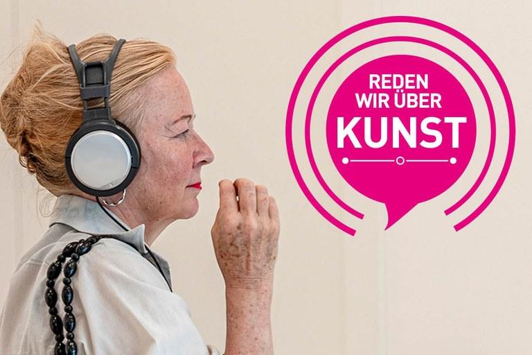 """Die erste Staffel des Podcasts """"Reden wir über Kunst!"""" ist komplett. Sechs unterhaltsame Folgen mit anregenden Gesprächen über Kunst, Fluchterfahrungen, die Kraft der Sprache u. v. m. warten auf Spotify (und weiteren Podcast-Plattformen) auf interessierte Zuhörer*innen."""