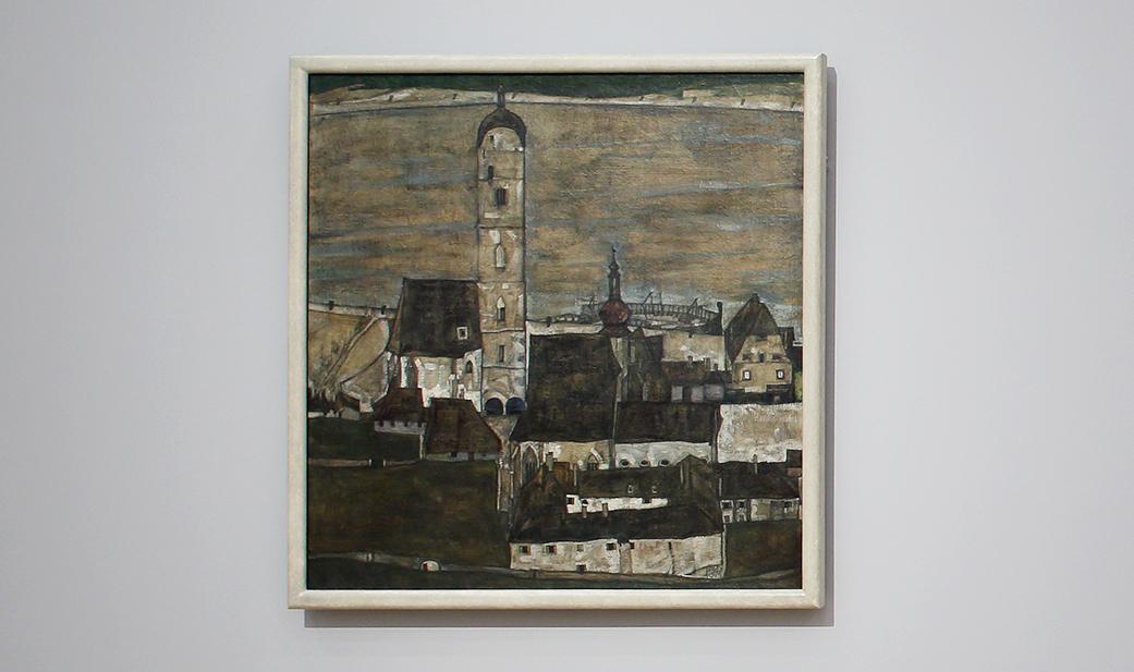 Vier Bilder malte Egon Schiele von Krems-Stein. Eines davon ist noch bis 16. Februar in der Ausstellung Franz Hauer. Selfmademan und Kunstsammler der Gegenwart im Untergeschoss der Landesgalerie Niederösterreich zu sehen.