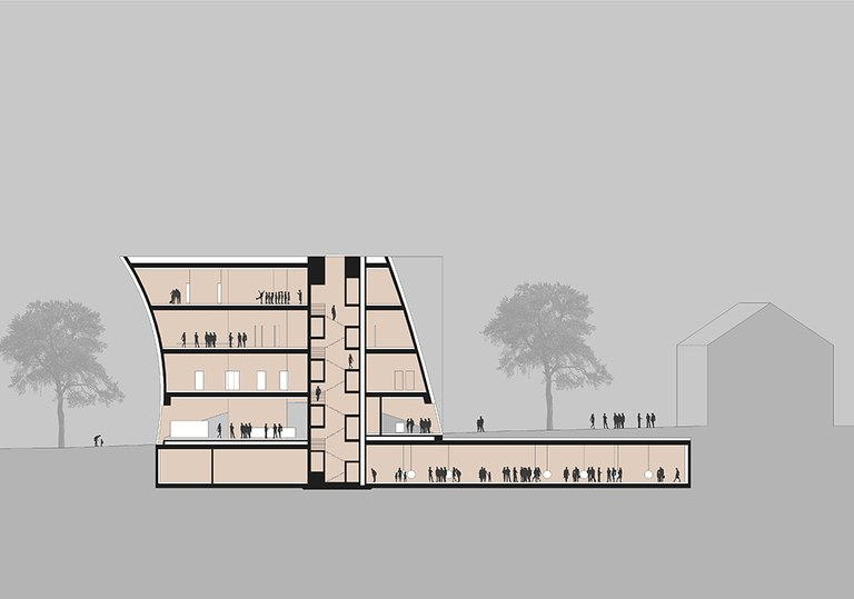 3,000 square meters of exhibition spaces extend over four floors. Future highlights include the roof terrace with a view in the direction of Göttweig Abbey. Furthermore, an underground area will directly connect the Museum and Kunsthalle Krems.