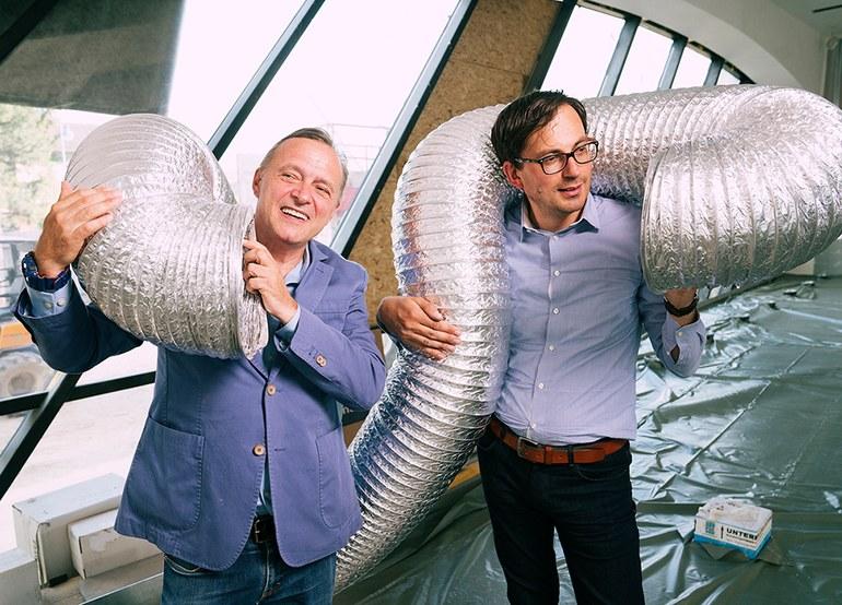 01 Director Christian Bauer and Günther Oberhollenzer, curator